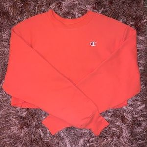 Champion long sleeve cropped crew neck